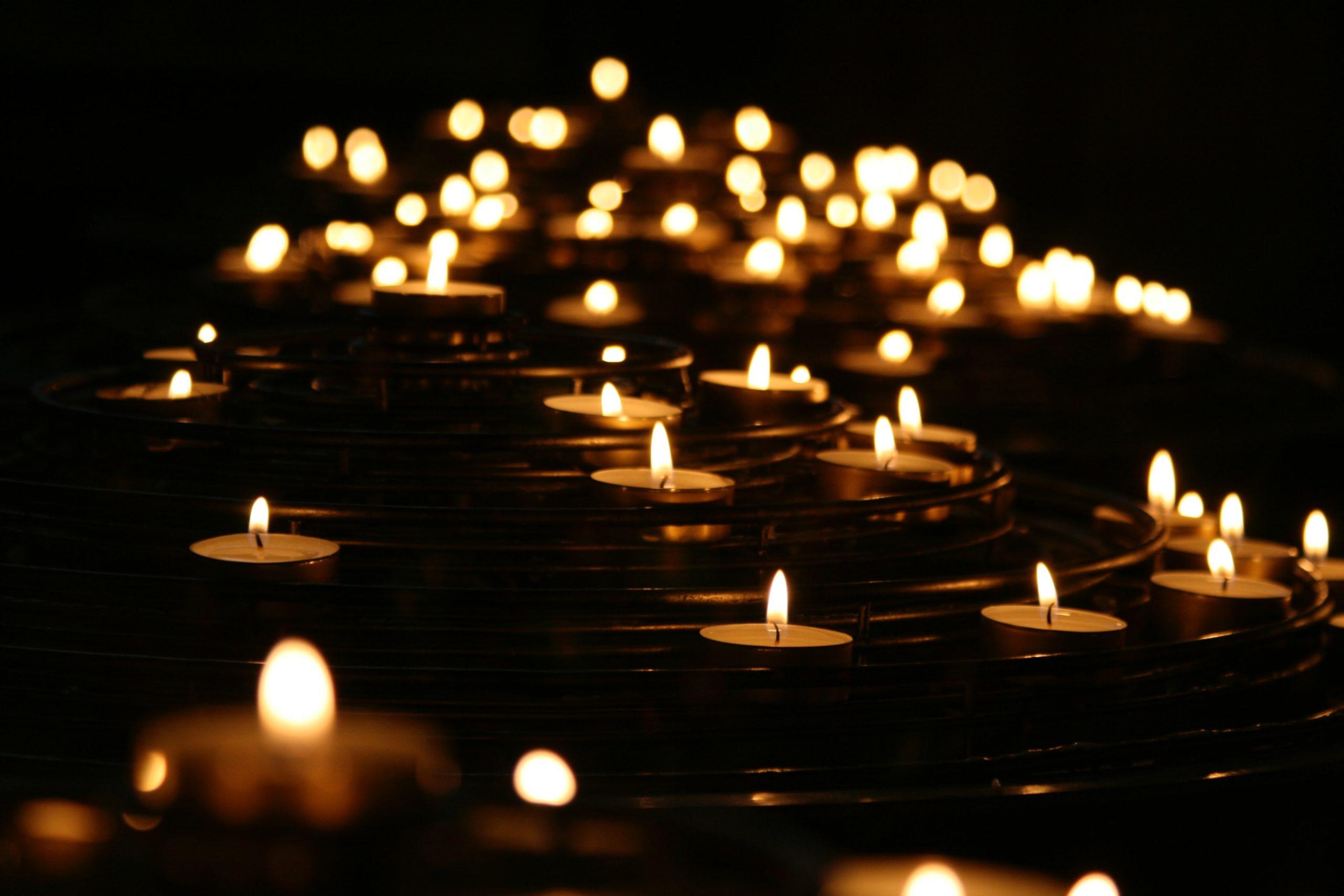 many candles at night